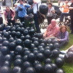 ...these guys were protesting about the increase in black balloons.